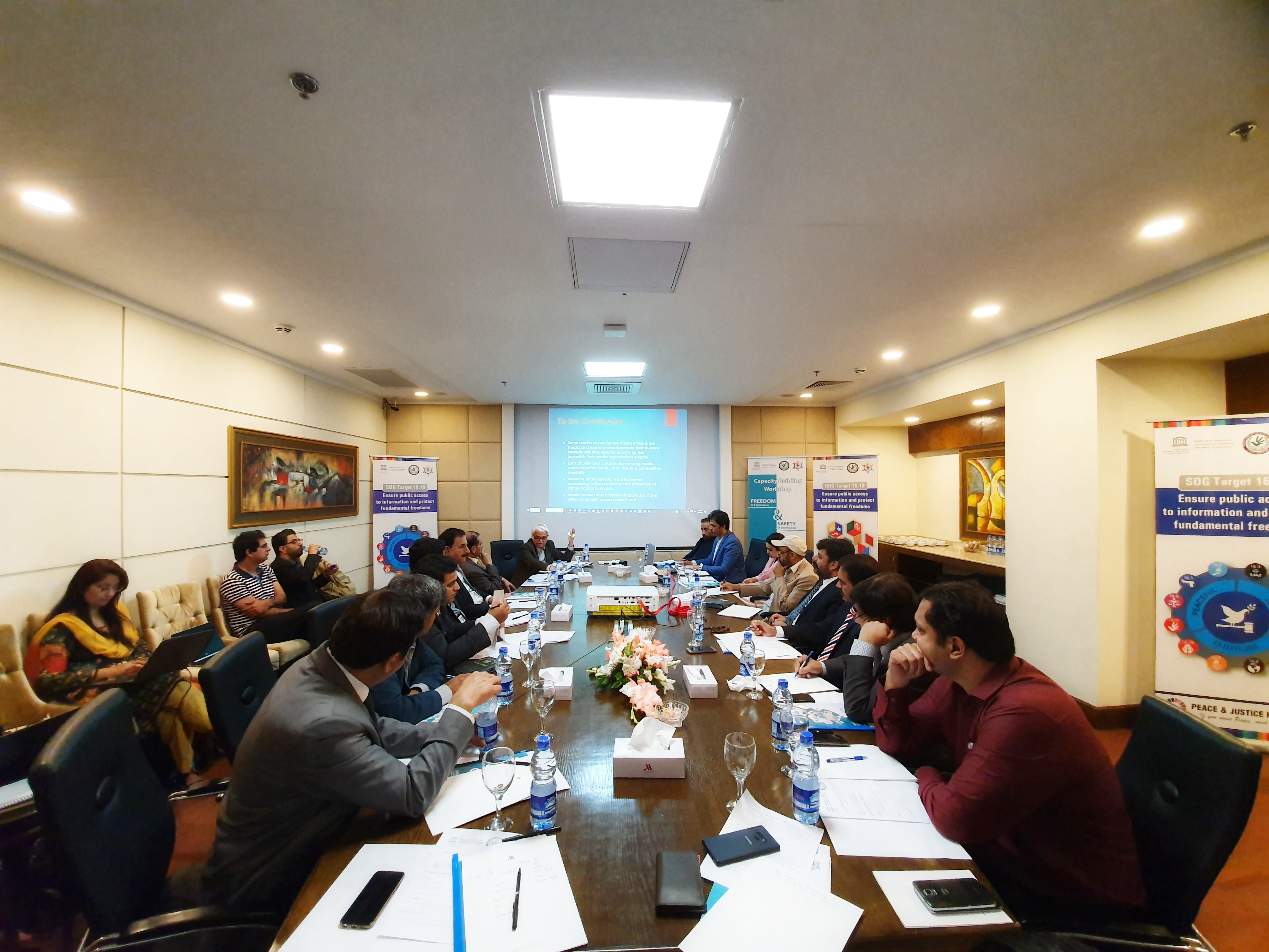 UNESCO Capacity Building Training Safety of Journalist Islamabad