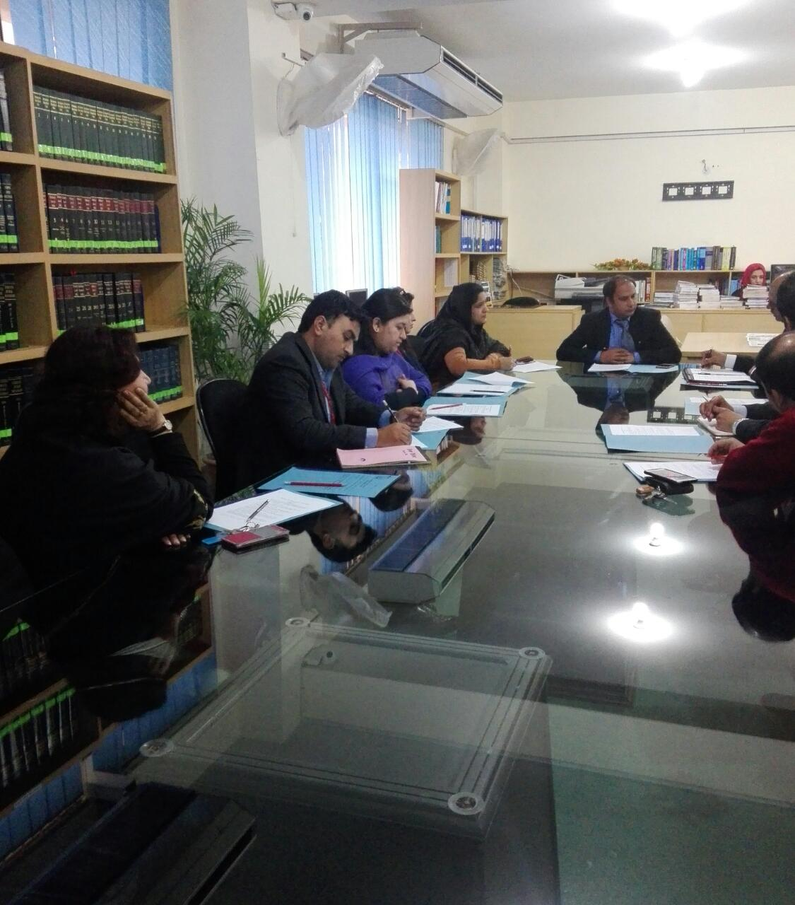 Bahria University Department of Law Corporate Advisory Committee Meeting 24th January, 2017