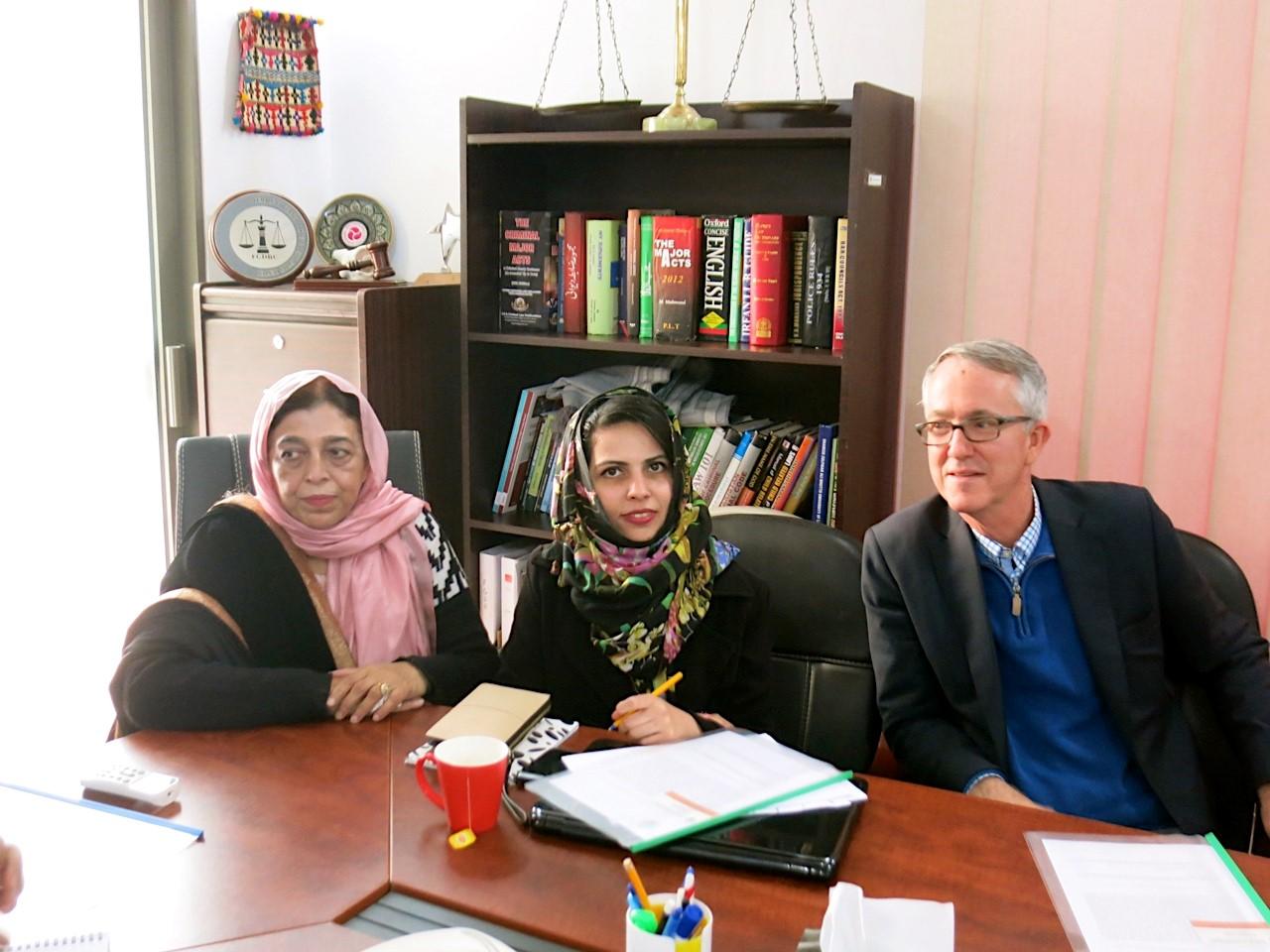 PJN International Legal Expert Visit to PJN Member Organization SHER