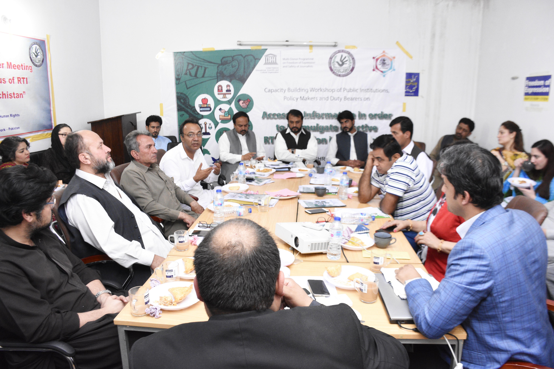 UNESCO RTI Consultation Balochistan